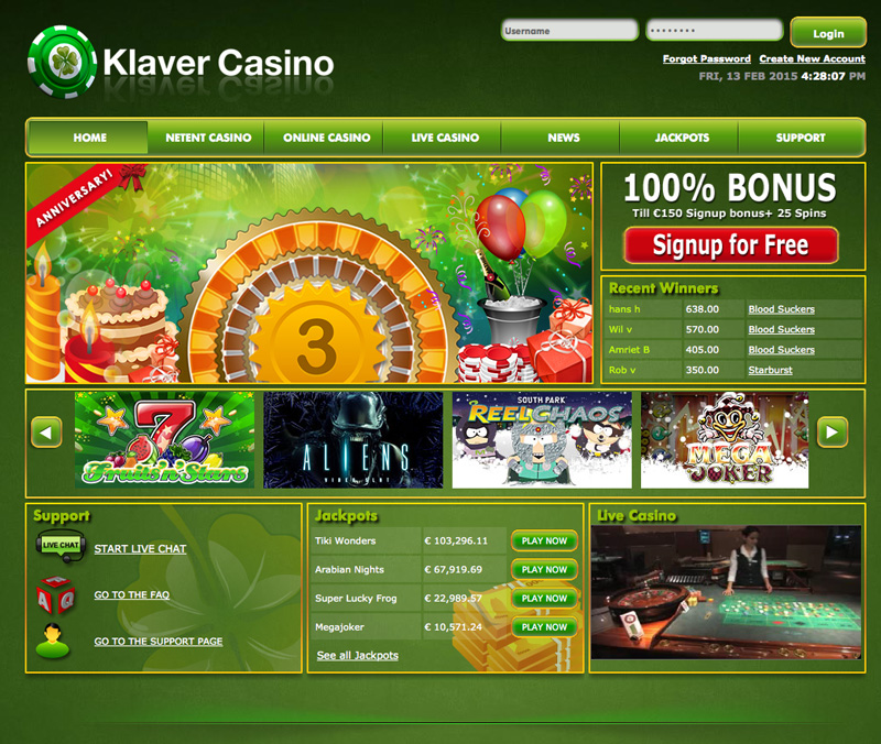 Klaver casino screenshot
